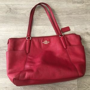 Coach Red Tote Bag